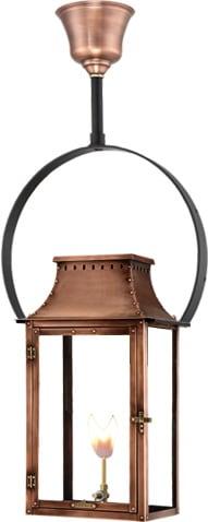 Breaux Bridge Half Yoke Gas Copper Lantern by Primo