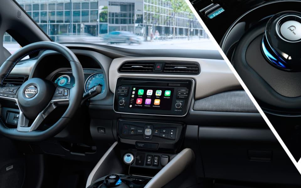 Nissan Leafs kupé med et intuitivt og ryddig dashboard