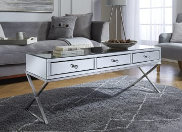 Salvador Mirrored Coffee Table Drawer
