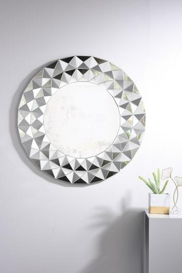 Luna Small/Medium Silver Round Wall Mirror