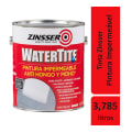 Tinta Impermeabilizante Zinsser Watertite 3,785 L P/Concreto Fosco Branco C/2un   Rust Oleum