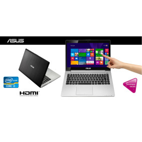 Notebook Asus Vivo Book Touch Intel I3, 4 Gb, 500 Gb, Led 14.,  Win 8, Preto   Asus