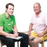 Client receiving his escape pain rehabilitation program.