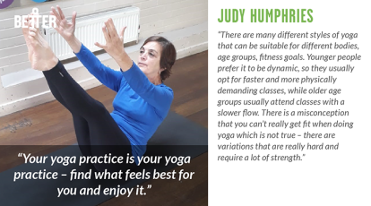 Judy Humphries yoga teacher