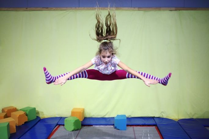 Junior Trampolining at Better Fairwater Leisure Centre Cardiff