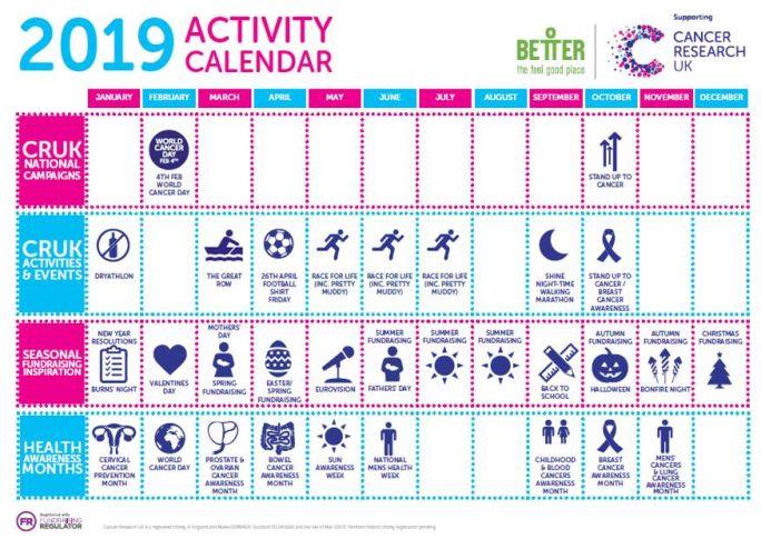 Activity calendar 2019