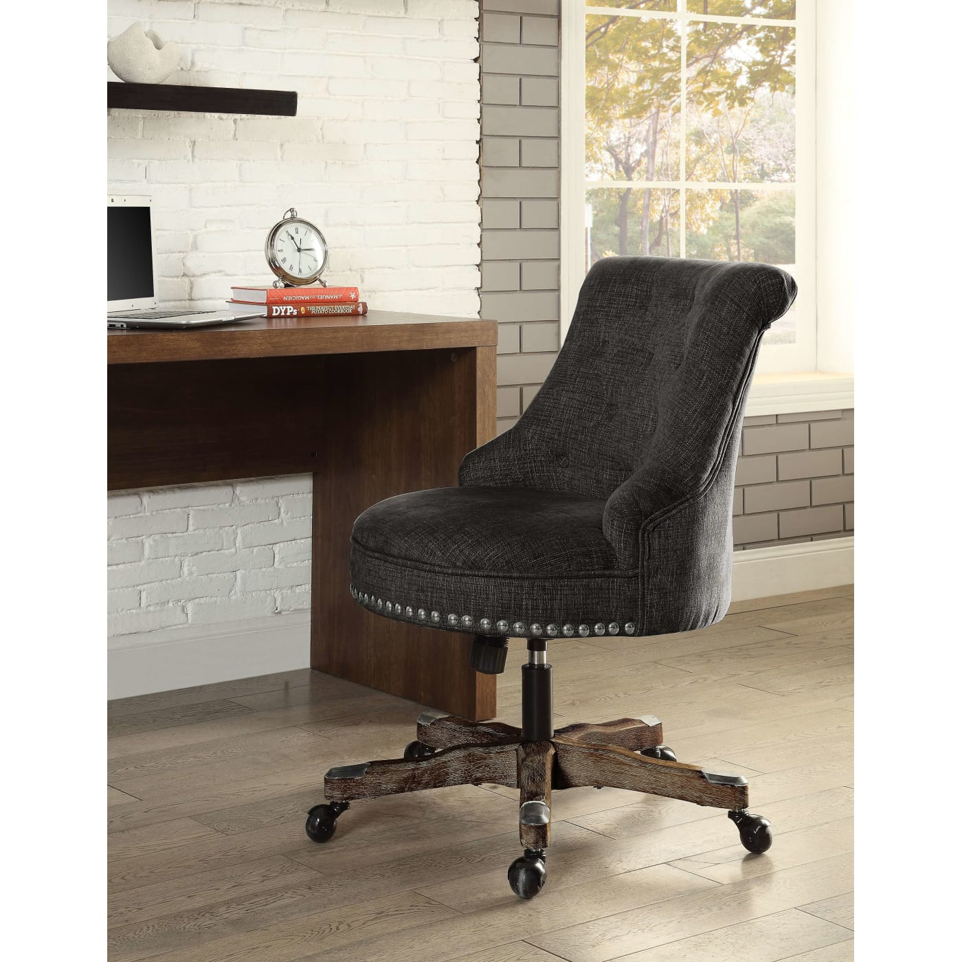 Linon Home Decor Products Inc. Sinclair Gray Office Chair