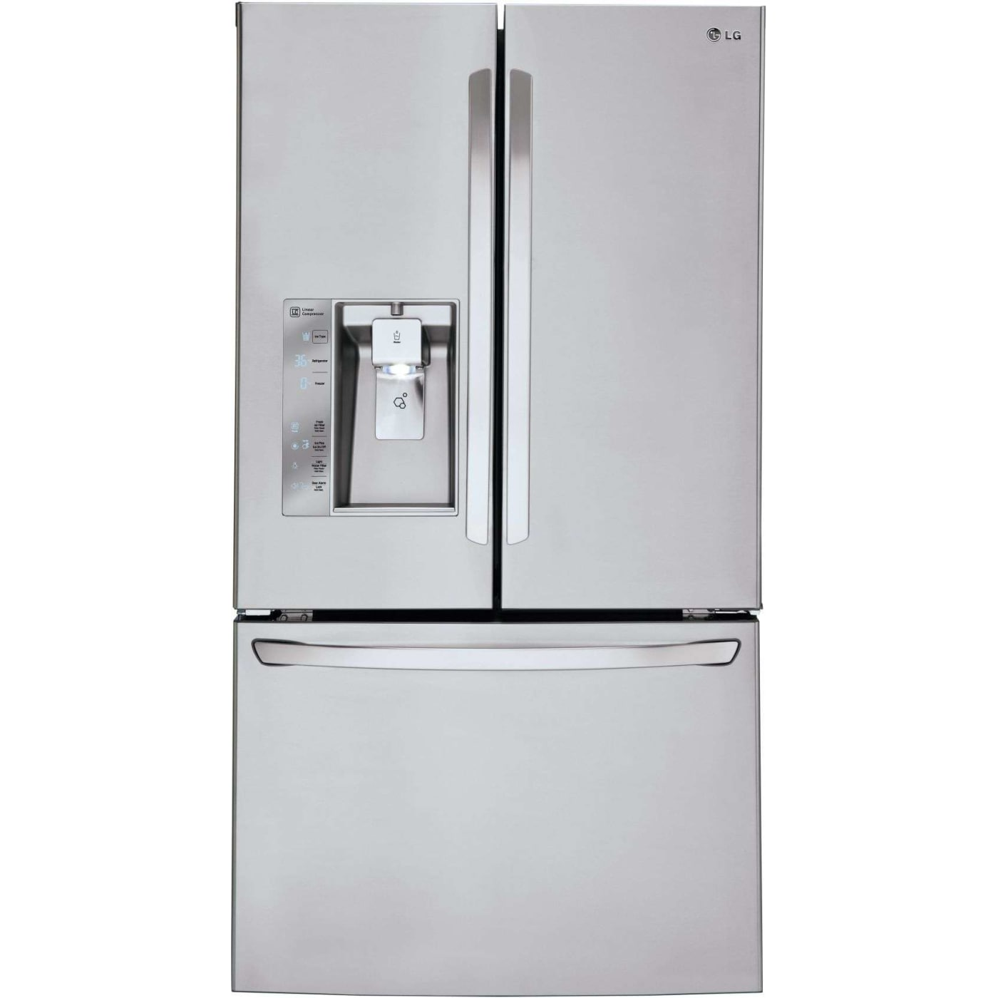 unusual refrigerator lg double door. Stainless Steel French Door Refrigerator  Energy Star LG LFXS30726S 36 29 8 cu ft