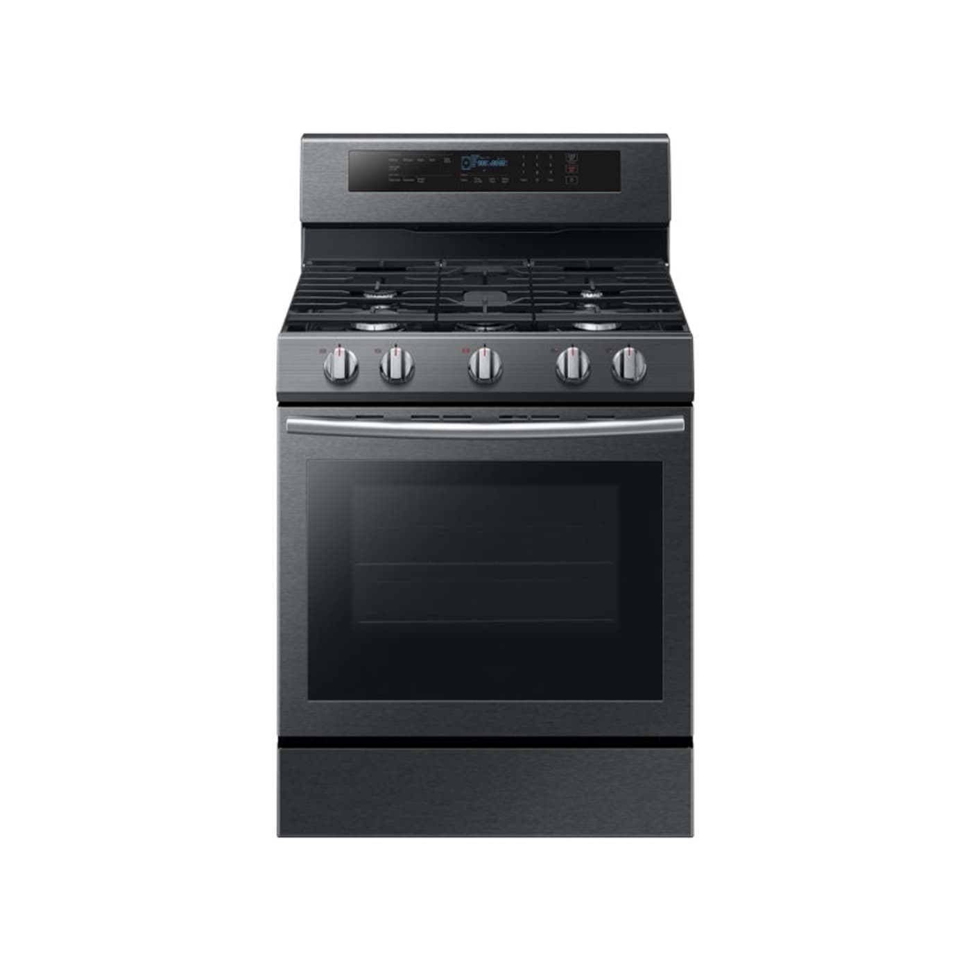 "Samsung NX58M6630SG 30"" Black Stainless Steel Gas Sealed Burner"