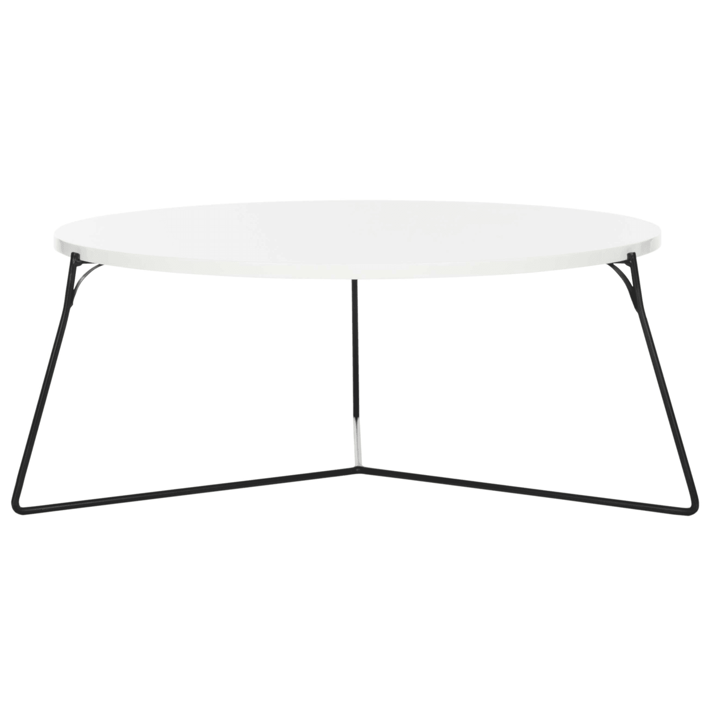Mae White & Black Retro Mid Century Lacquer Coffee Table