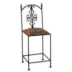 "Grace Collection Antique Bronze 24"" Gothic Counter Stool"