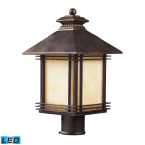 Elk Blackwell Hazlenut Bronze 1-Light Outdoor Post Light - LED