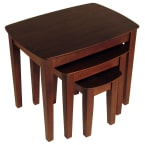 Winsome Wood Antique Walnut 3 Piece Nesting Table Set
