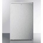 """Summit 20"""" 4.1 cu. ft. Stainless Steel Undercounter Compact Refrigerator - ADA Compliant"""