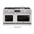 "Capital Culinarian 60"" Stainless Steel Gas Open Burner Double Oven Range - Convection"