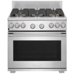 "Electrolux Icon Professional 36"" Stainless Steel Dual Fuel Sealed Burner Range - Convection"