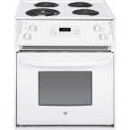 "GE 27"" White Drop-In Electric Coil Range"