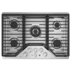 "GE Profile 30"" Stainless Steel Gas Sealed Burner Cooktop"