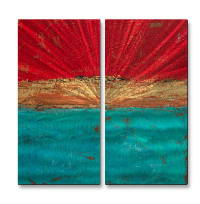 """23.5"""" x 25"""" """"Lithosphere 19"""" Metal Wall Art by Hilary Winfield"""