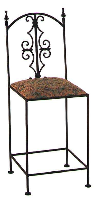 """Stone 24"""" Gothic Counter Stool with Arms"""