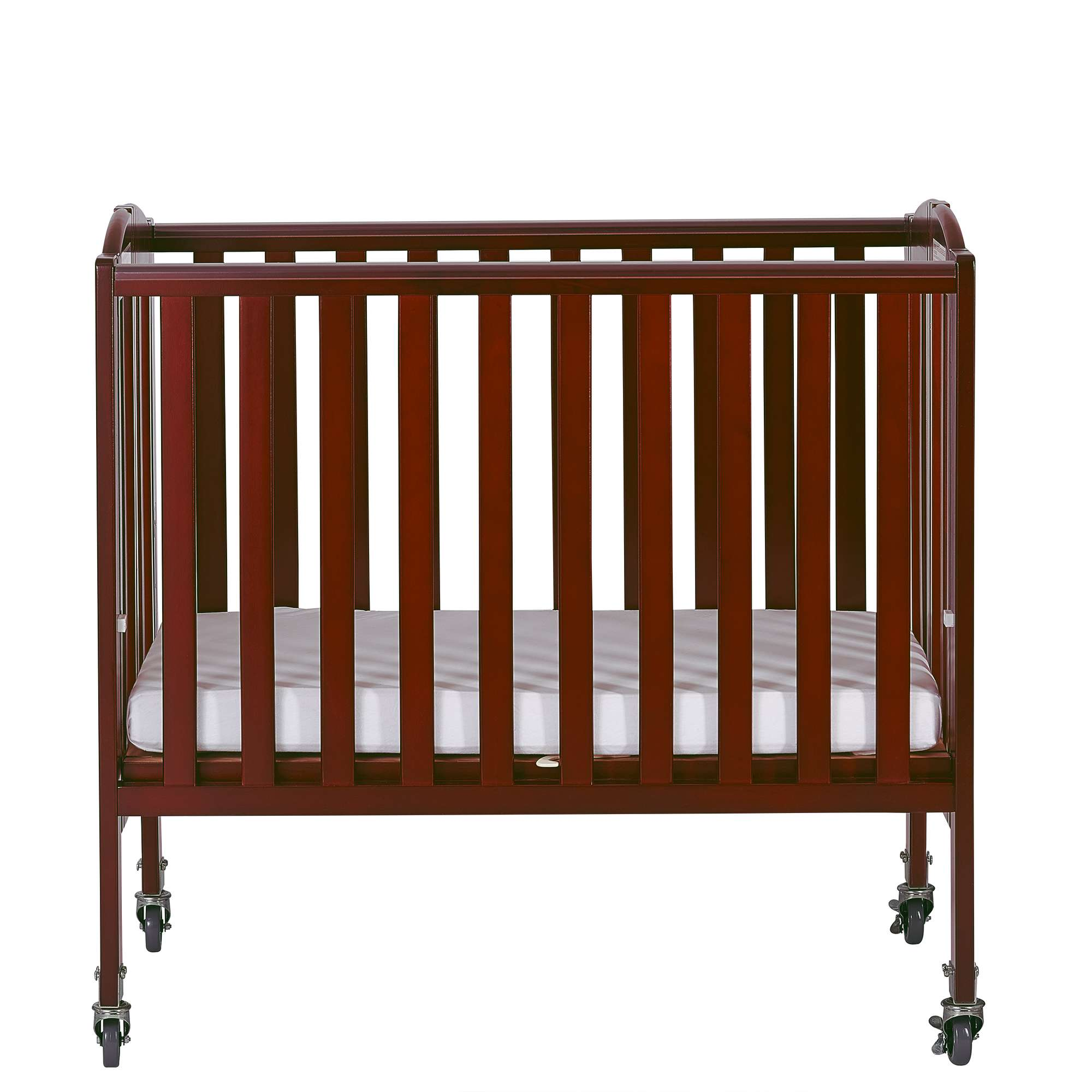 2 In 1 Folding, Birch Portable Crib In Cherry