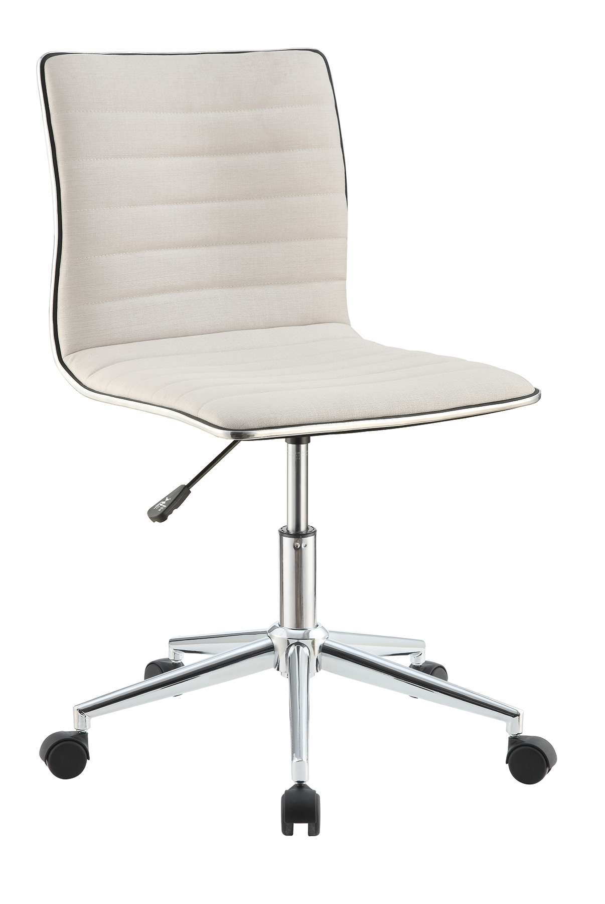 Cream Office Chair with Chrome Base
