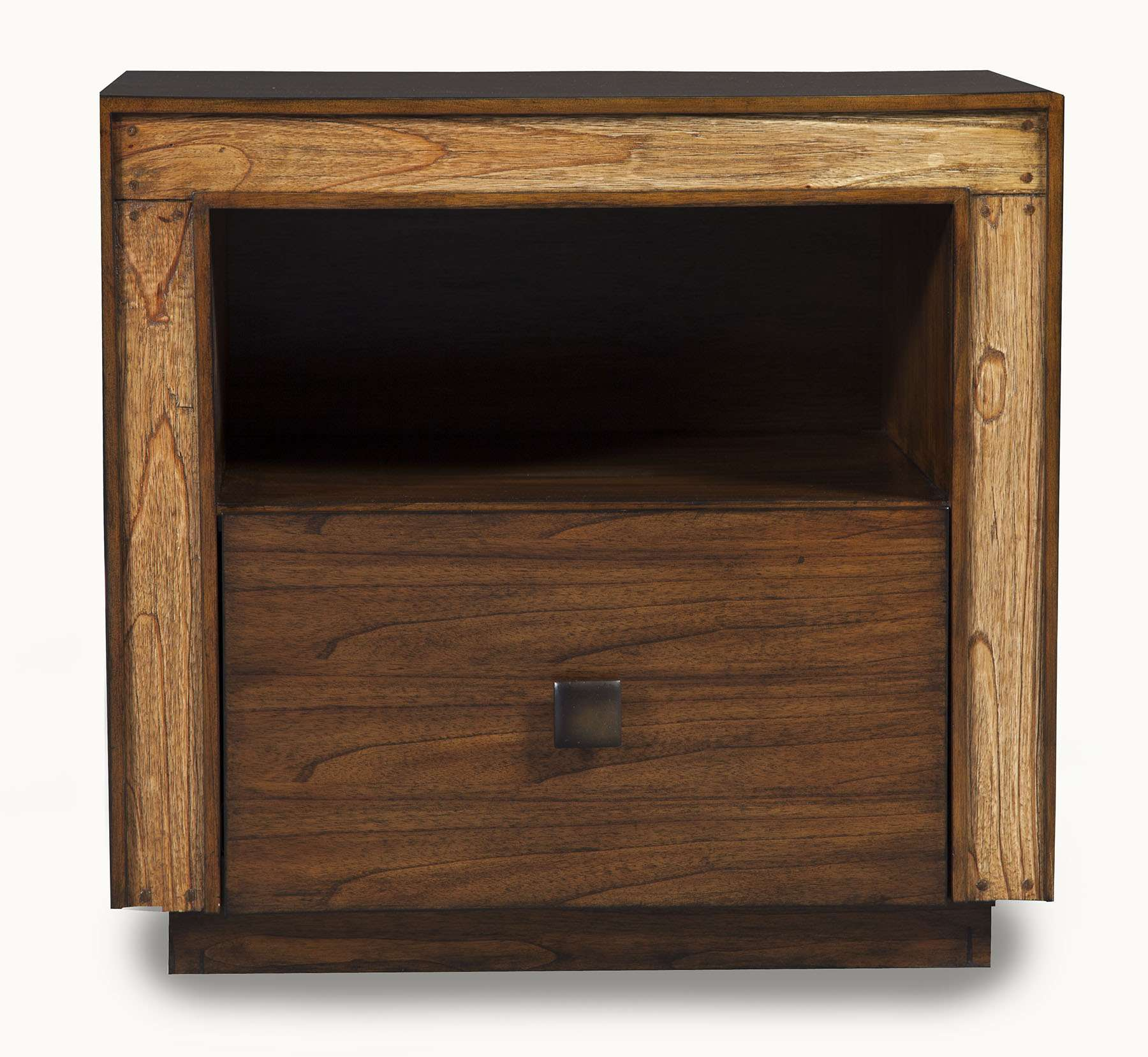Jimbaran Bay Tobacco Nightstand with Drawer & Shelf