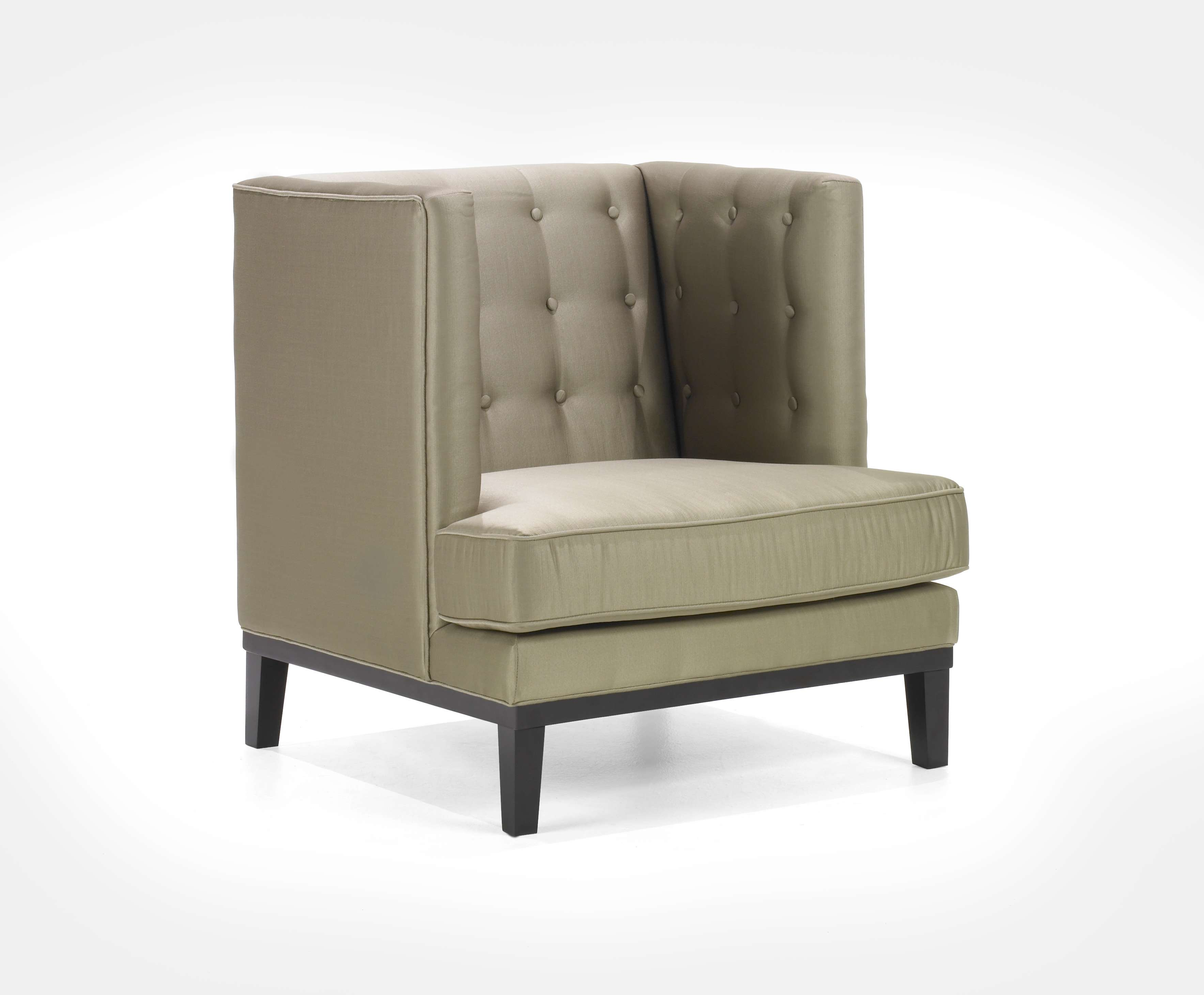 Noho Champagne Fabric Arm Chair