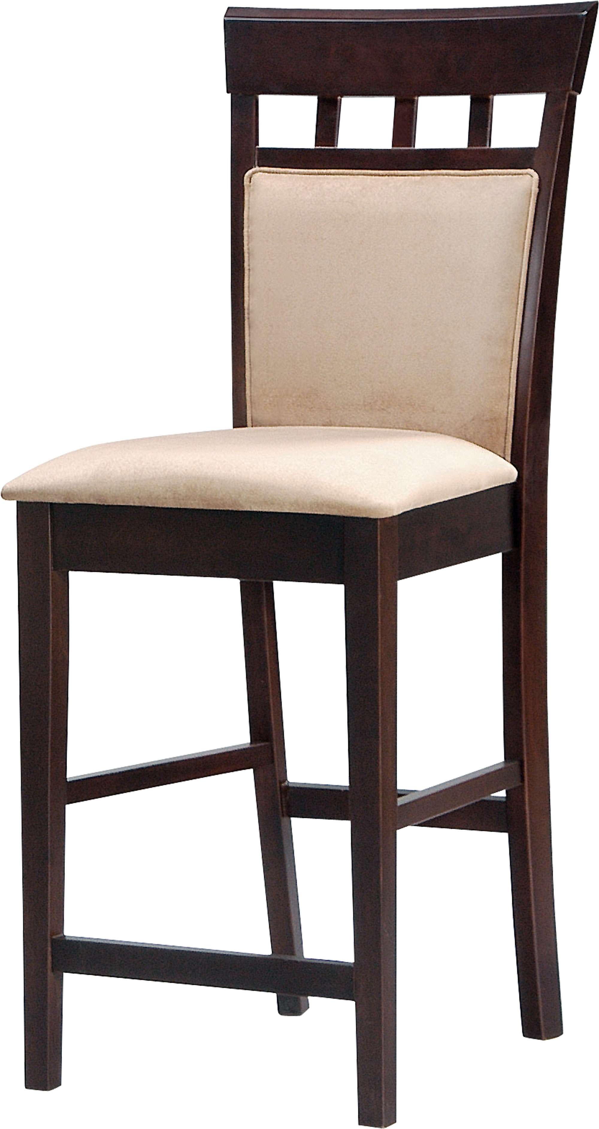 Coaster Mix And Match Cappuccino 24 Quot Cushion Back Stool