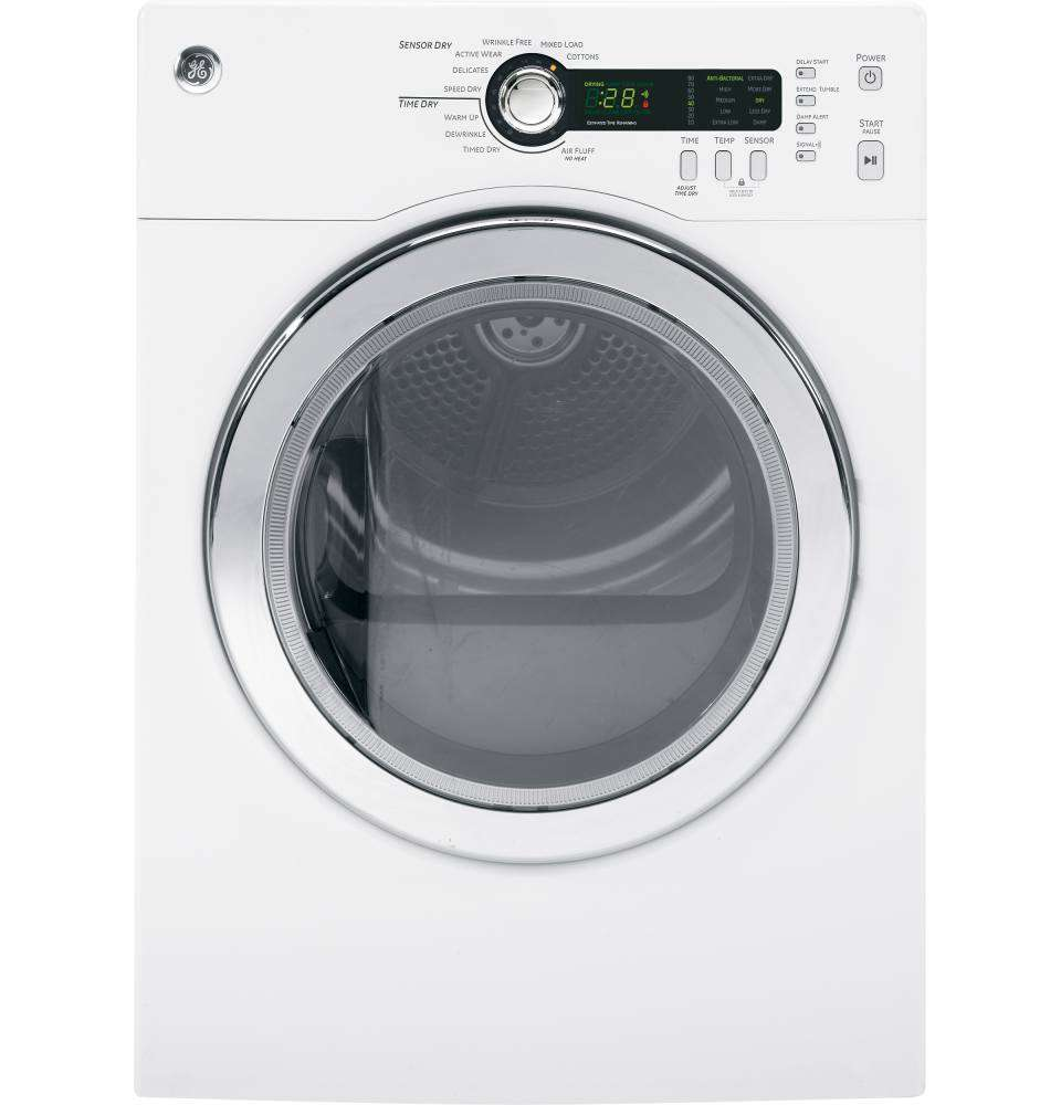 4.0 Cu. Ft. White Stackable Electric Dryer