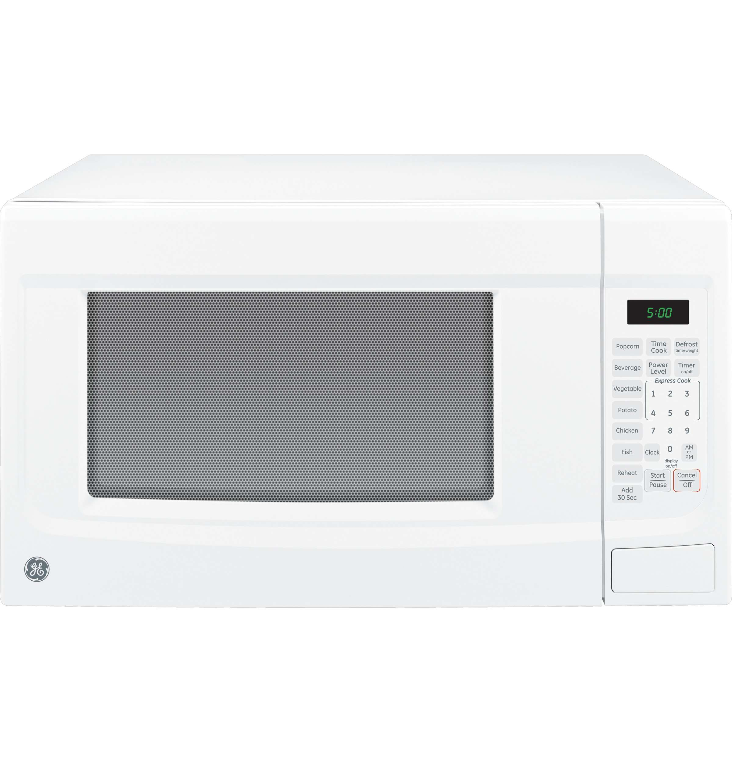 GE 22 In. Countertop 1.4 cu. ft. White Microwave - JES1460DSWW Image 2