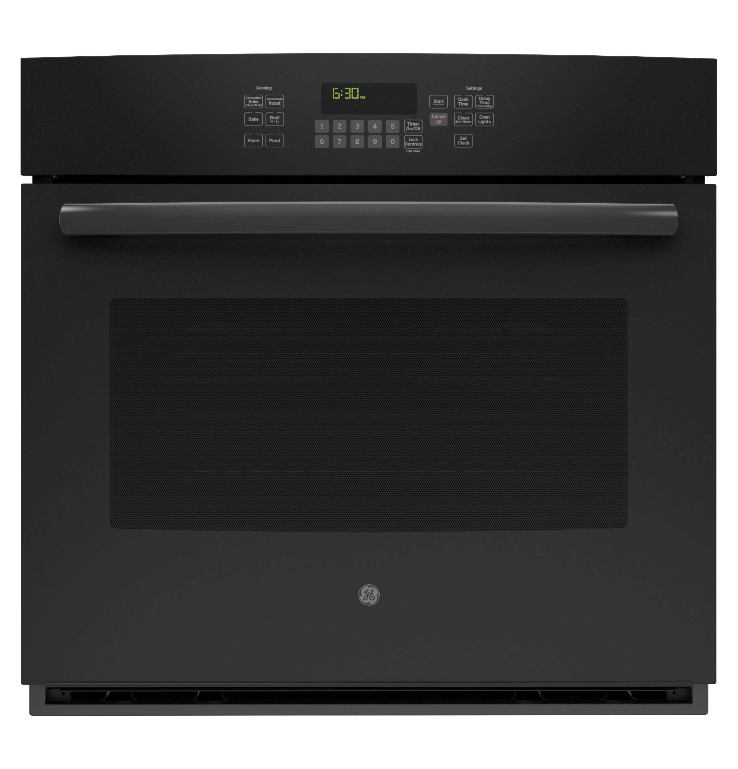 "30"" Black Electric Single Wall Oven - Convection"