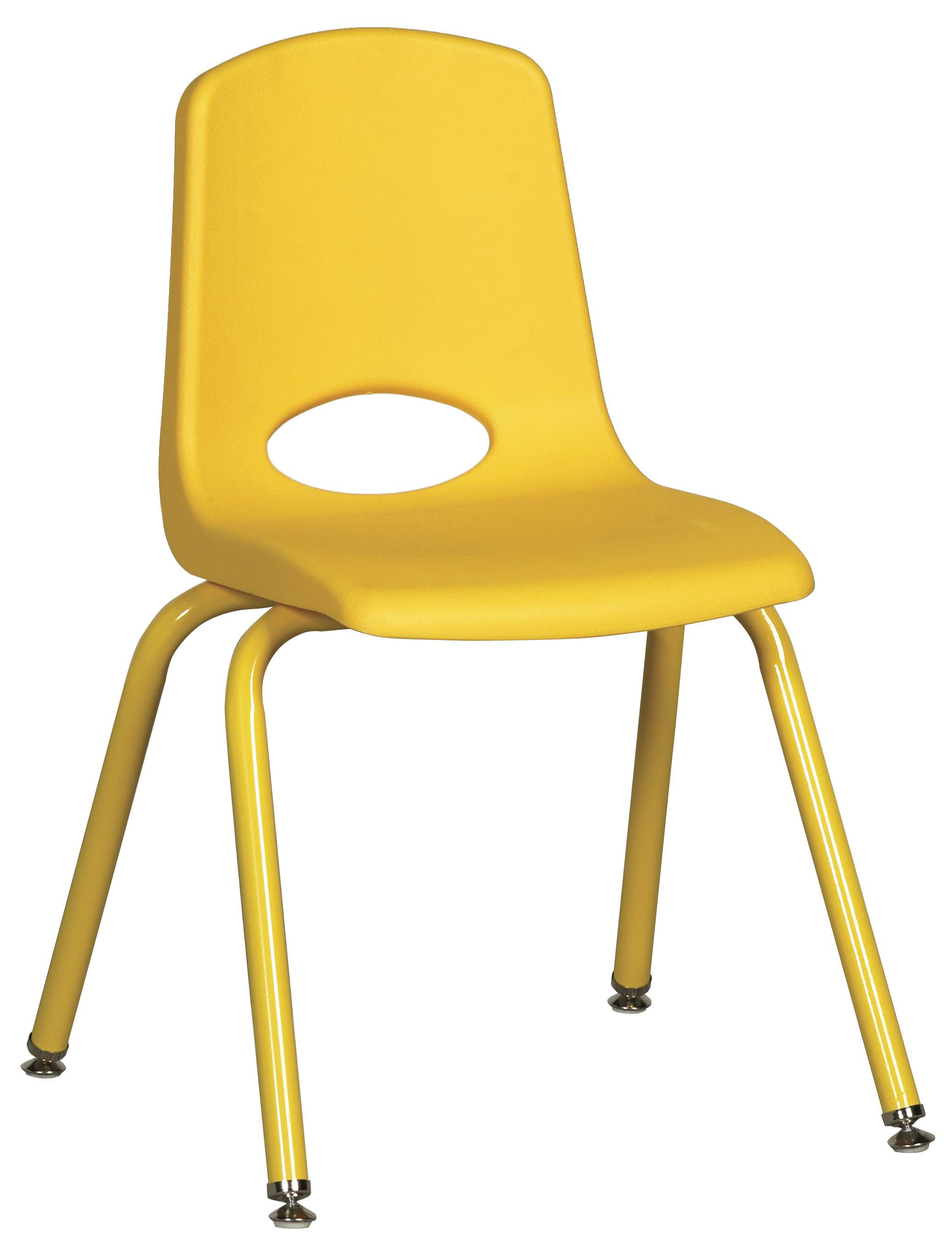 """Yellow 16"""" Stacking Chairs with Matching Legs - Set of 6"""
