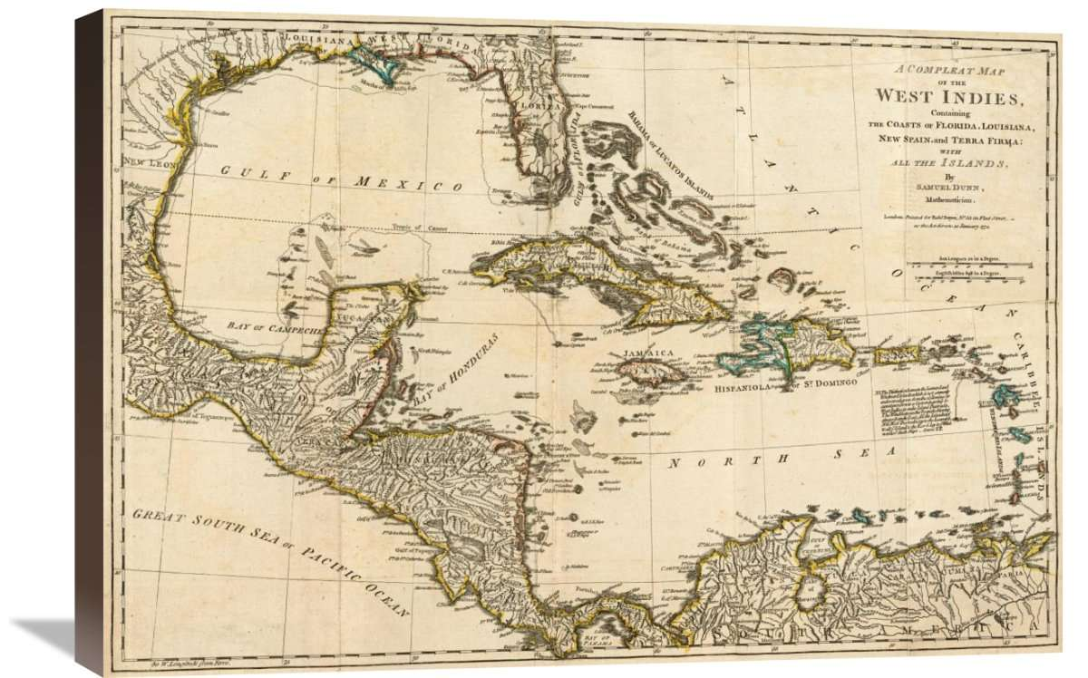 A Complete Map Of The West Indies, 1776
