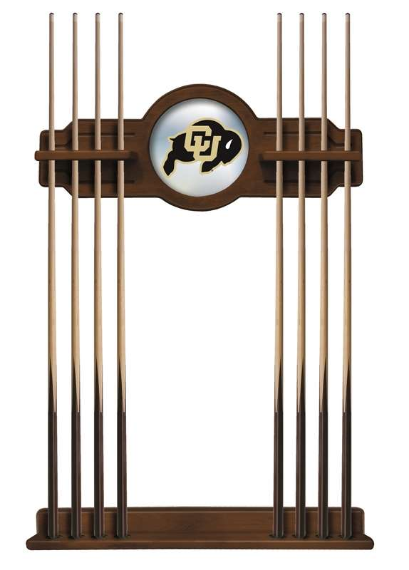 University of Colorado Cue Rack in Chardonnay Finish