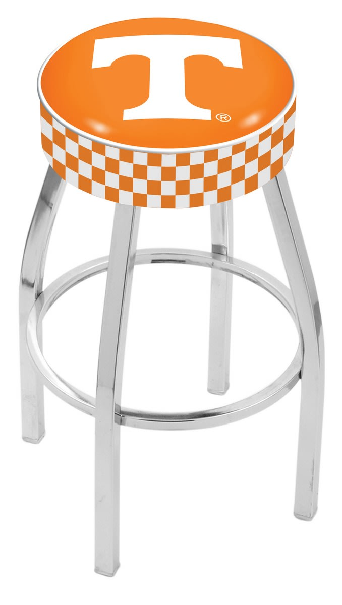 "25"" University of Tennessee Cushion Seat Swivel Bar Stool with Chrome Base"