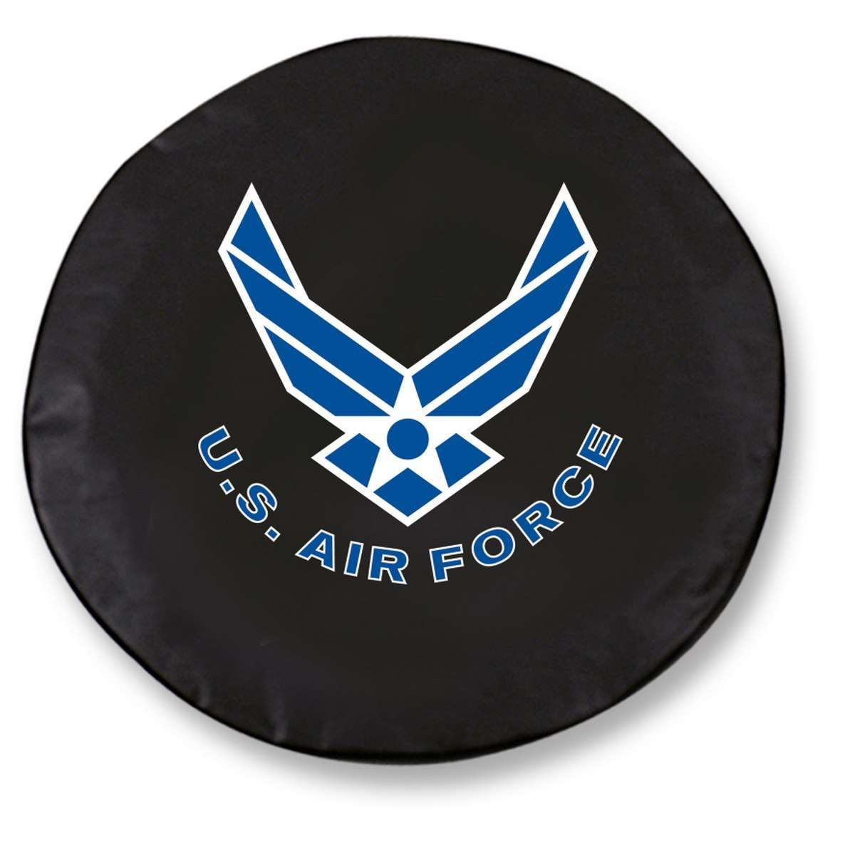 "34"" x 8"" Black United States Air Force Vinyl Tire Cover"