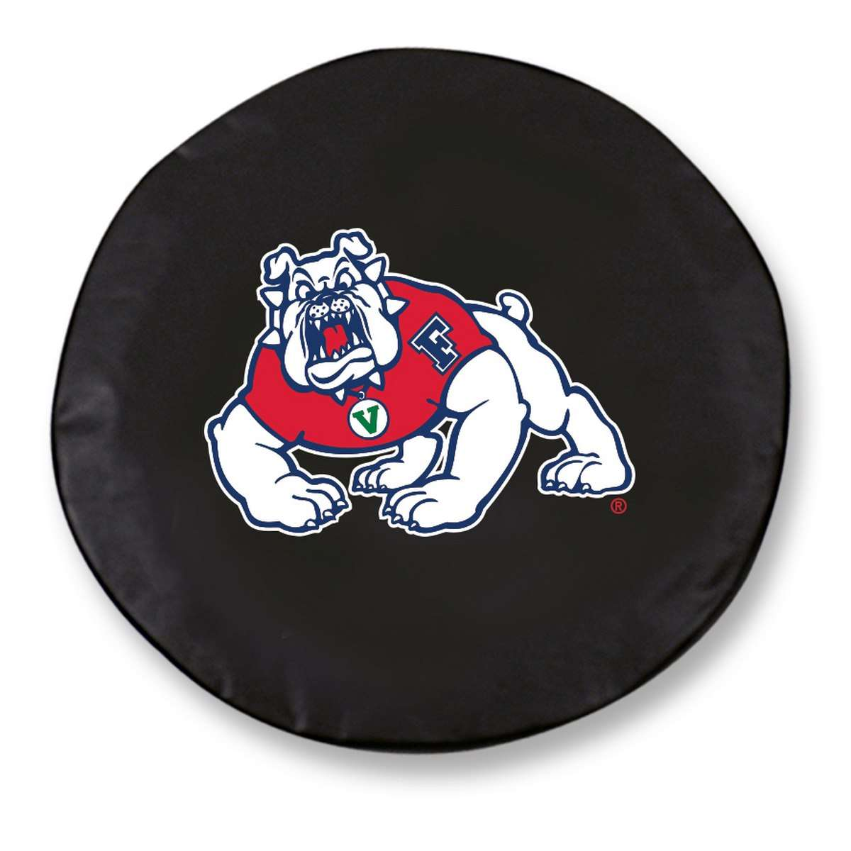 "29.75"" x 8"" Black Fresno State University Vinyl Tire Cover"