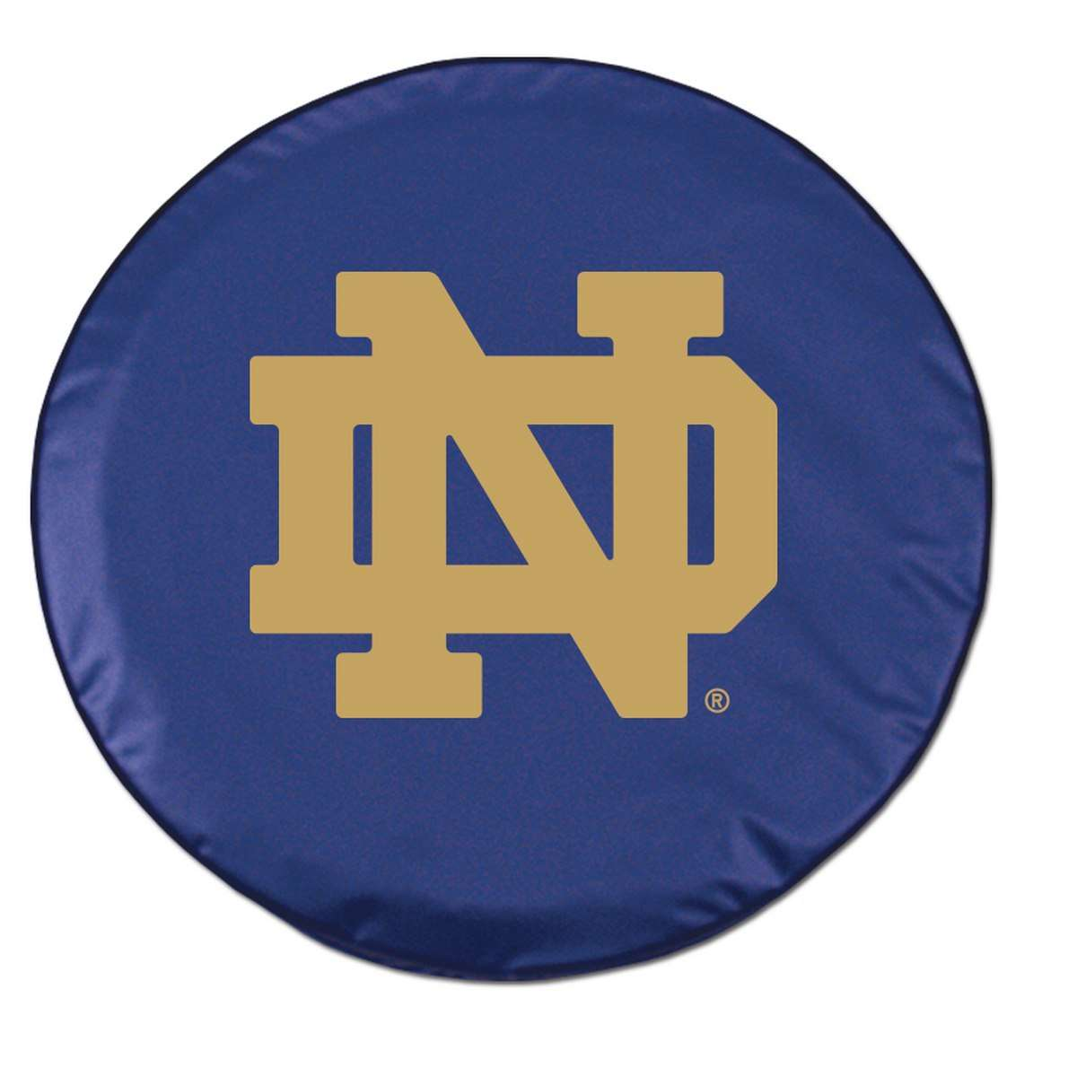 "29"" x 8"" Navy Notre Dame ""ND"" Vinyl Tire Cover"