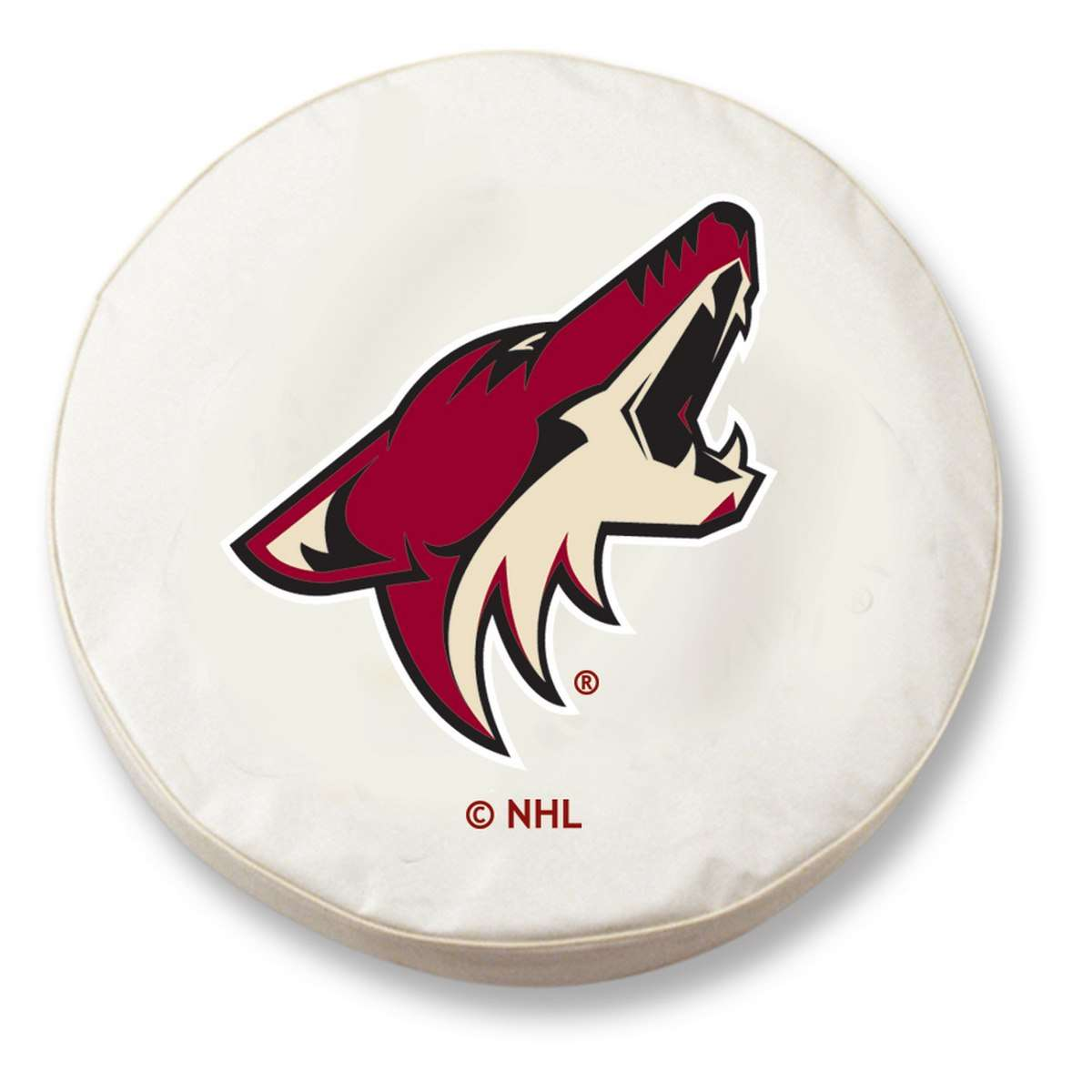 "37"" x 12.5"" White Arizona Coyotes Vinyl Tire Cover"