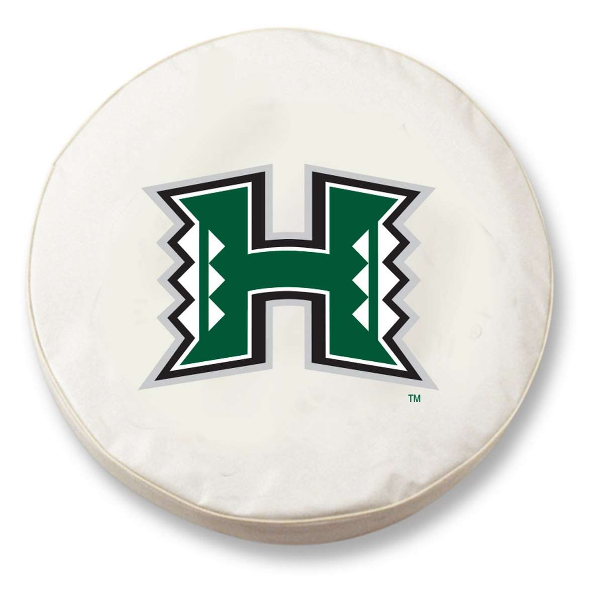"25.5"" x 8"" White University of Hawaii Vinyl Tire Cover"
