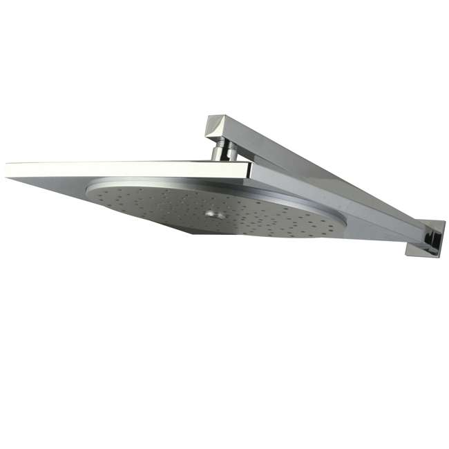 """Claremont Chrome 12"""" Rainfall Square Showerhead with 16"""" Shower Arm"""