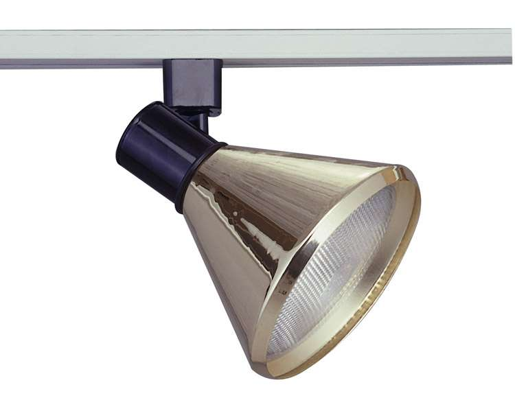 PLC Track Lighting Lamp Shade Comet-I Collection TR203, Satin Nickel