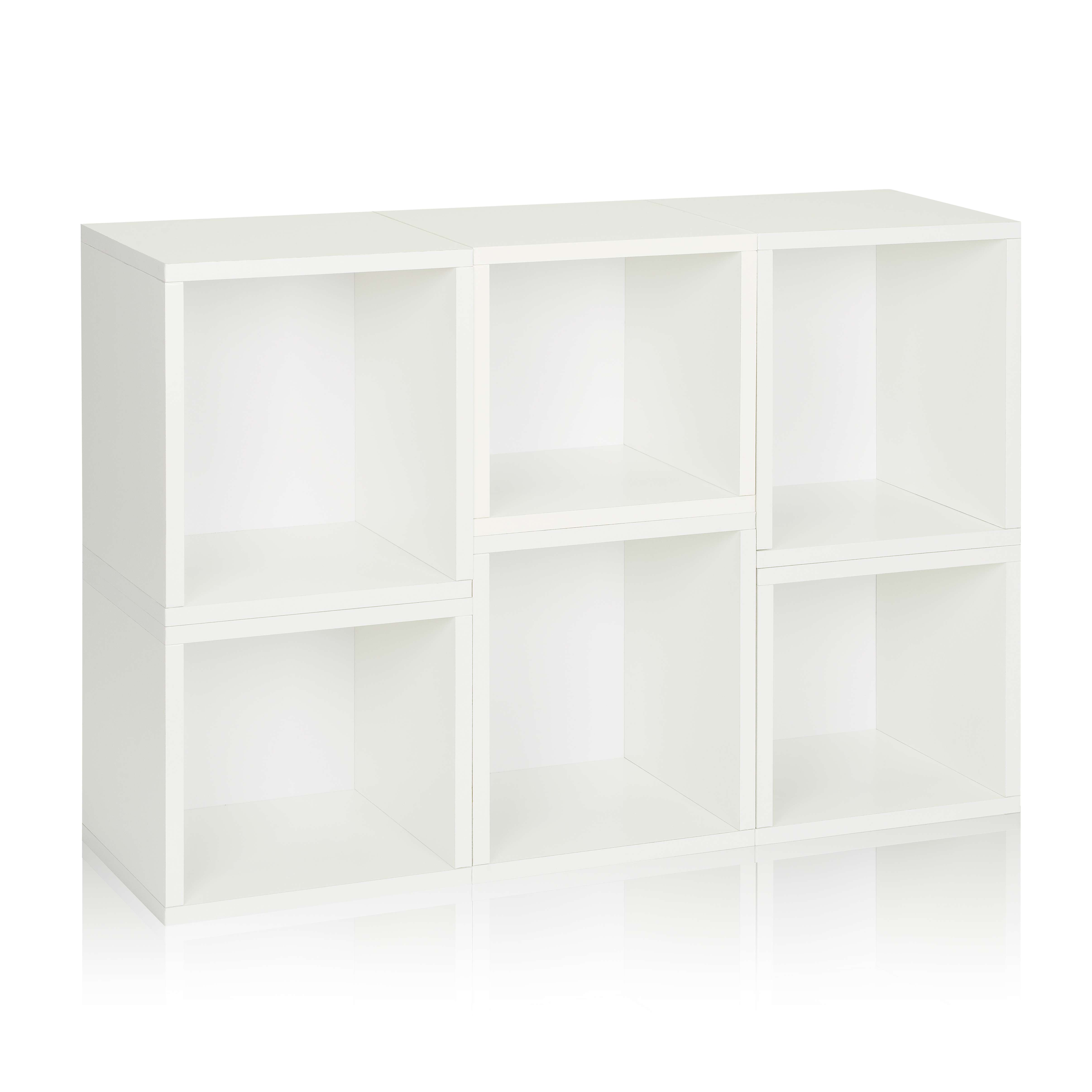 Eco Stackable Arlington Modular Bookcase And Storage Shelf In White