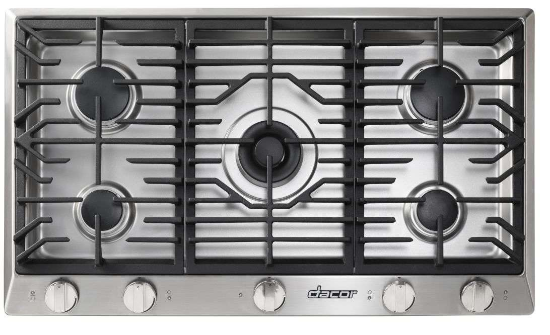 "Rennaissance 36"" Stainless Steel Gas Sealed Burner Cooktop"