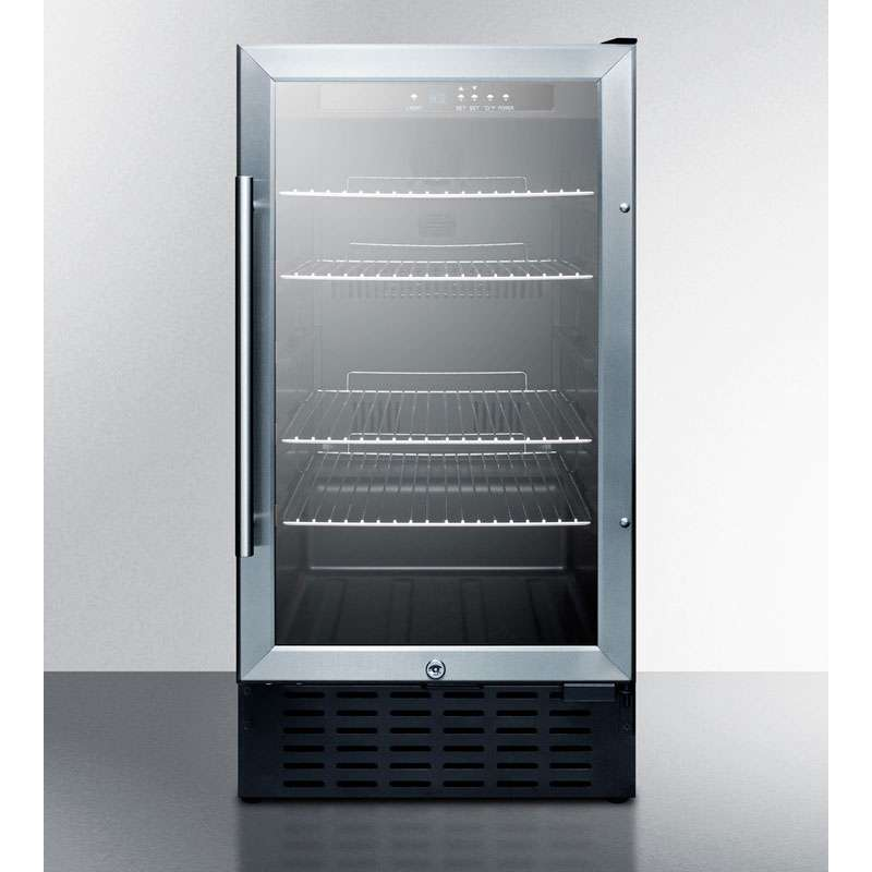 "Commerical Series 18"" 2.7 cu. ft. Stainless Steel Undercounter Built-In Beverage Center - ADA Compliant"