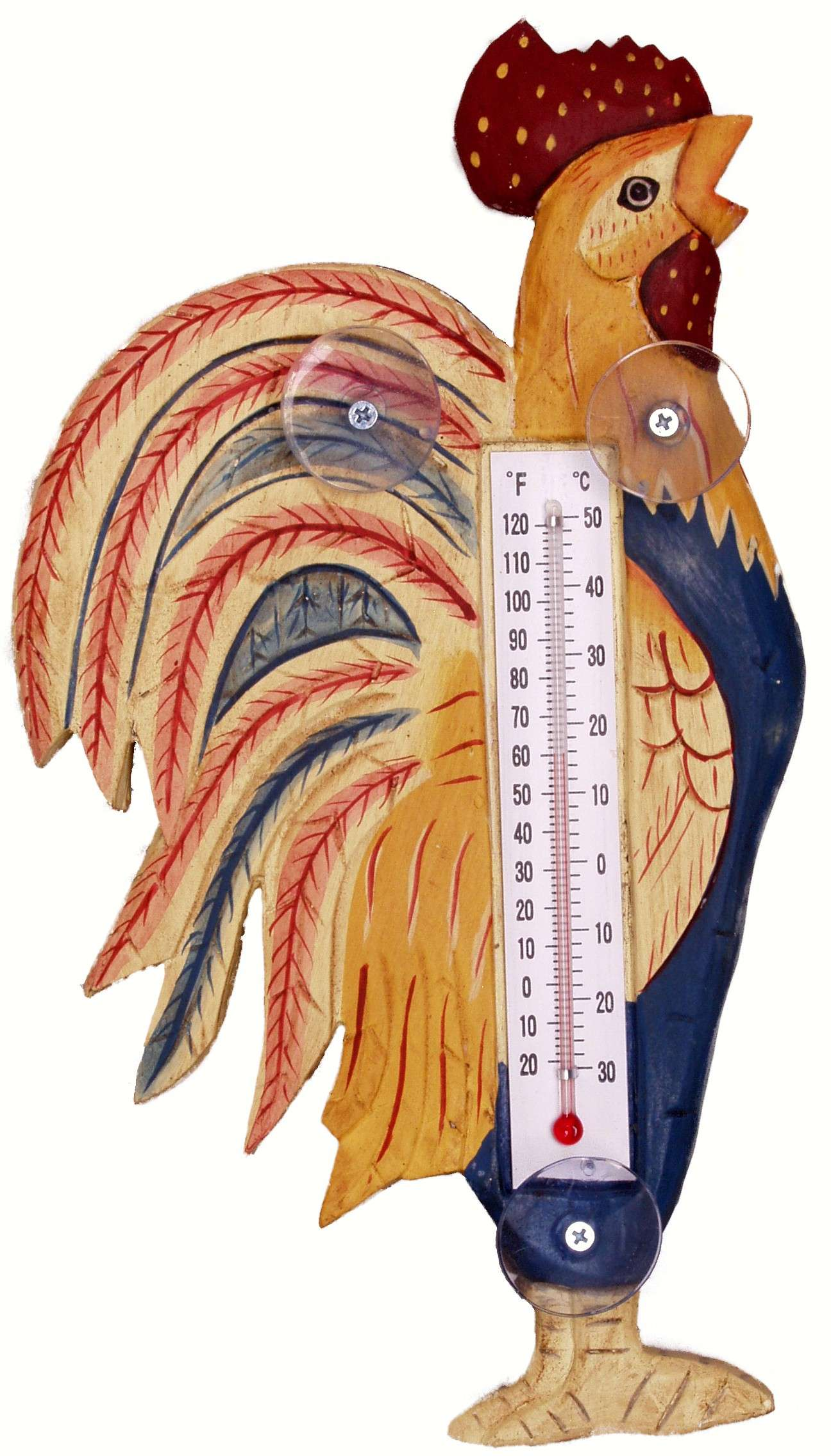 Country Rooster Small Window Thermometer - Quantity 1