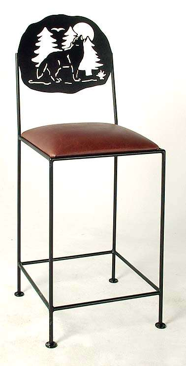 """Burnished Copper 30"""" Silhouette Bar Stool"""
