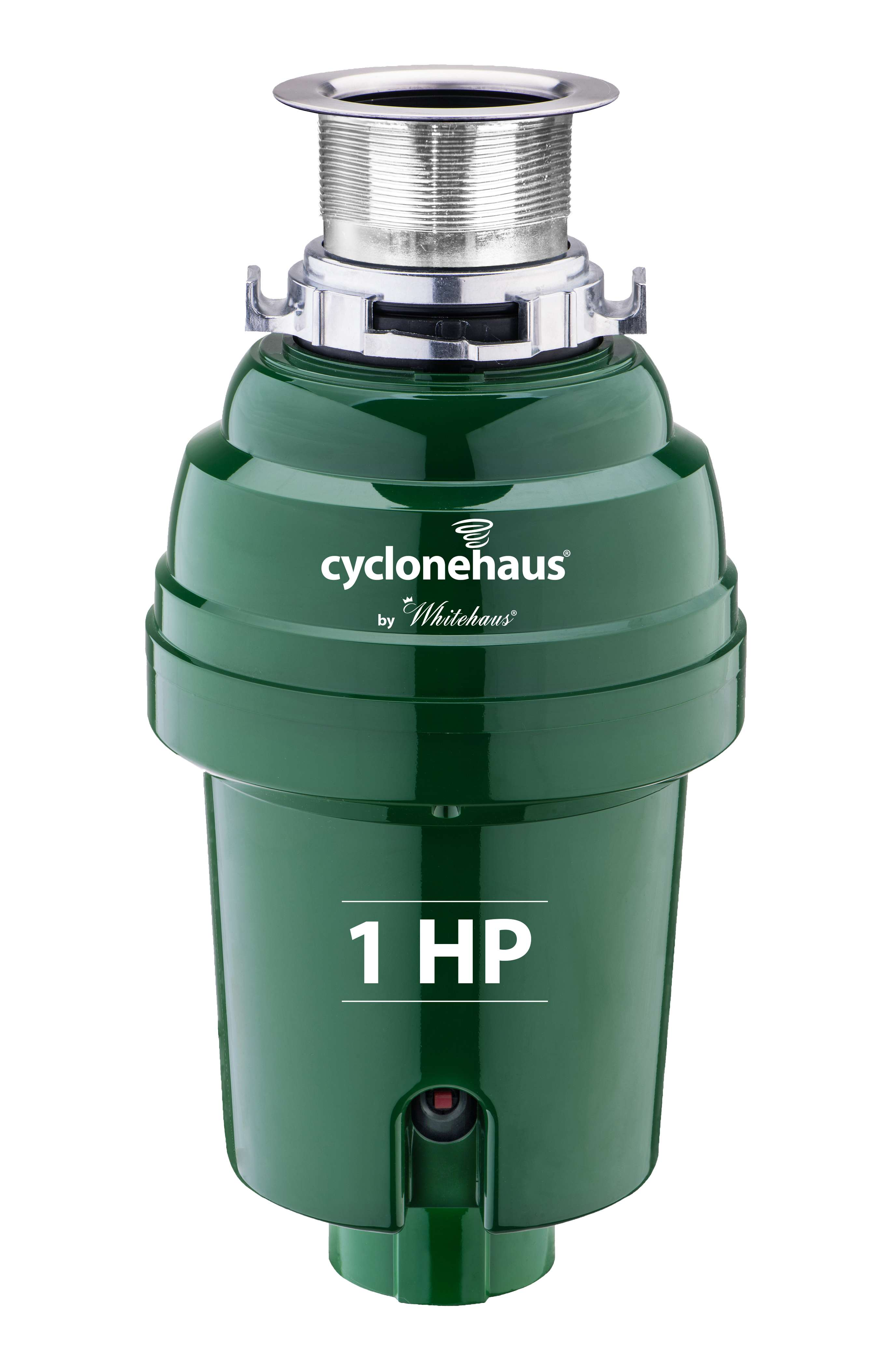 Cyclonehaus High Effciency Garbage Disposal with Solid Brass Flange in Polished Chrome
