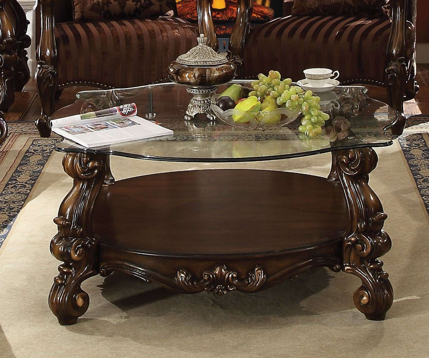 Outstanding Acme Furniture Versailles Cherry Oak Coffee Table Reviews Goedekers Com Machost Co Dining Chair Design Ideas Machostcouk